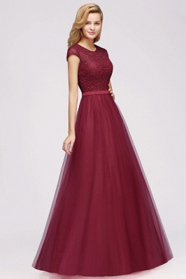 Designer evening dresses wine red | Prom dresses with lace_9
