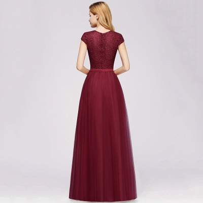 Designer evening dresses wine red | Prom dresses with lace_11
