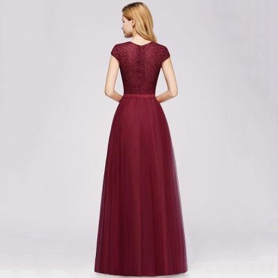 Designer Abendkleider Weinrot | Abiballkleider mit Spitze_11