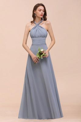 Günstige Brautjungfernkleider Grau | Brautjungfenrkleid Lang Chiffon_14