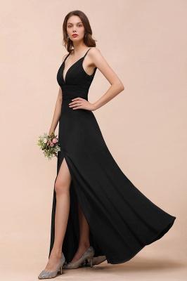 Schwarze Brautjungfernkleider Lang Günstig   Kleid für Brautjungfern_7