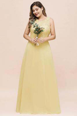 Gelb Brautjungfernkleider Günstig | Brautjungfernkleid Lang Chiffon_4
