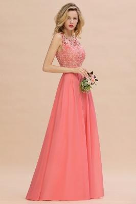 Schlichte Abendkleider Günstig   Coral Brautjungfernkleider Lang_5