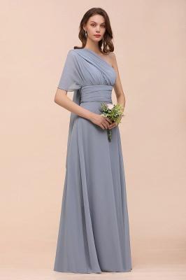 Günstige Brautjungfernkleider Grau | Brautjungfenrkleid Lang Chiffon_15
