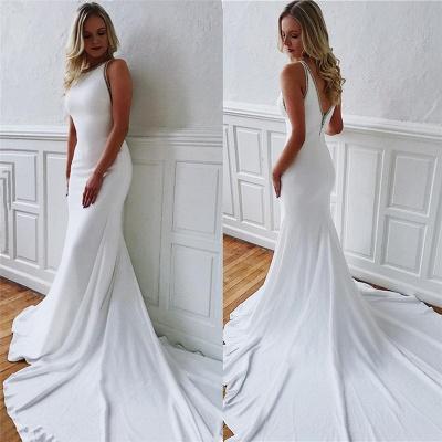 Modern wedding dress white mermaid | Wedding dresses with train_3