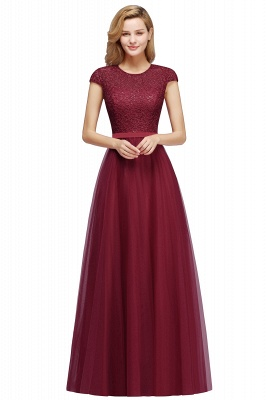 Designer evening dresses wine red | Prom dresses with lace_2