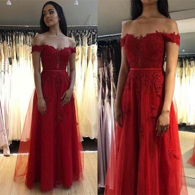 Fashion Abendkleider Lang Rot Spitze | Abendmoden Online Kaufen_3