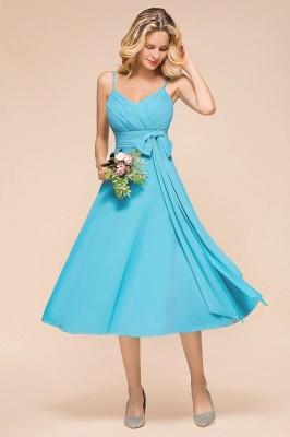 Blaue Brautjungfernkleider Kurz | Günstige Hochzeitspartykleider Online_4