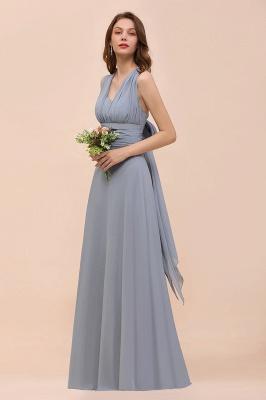 Günstige Brautjungfernkleider Grau | Brautjungfenrkleid Lang Chiffon_4