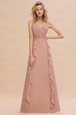 Brautjungfernkleider Lang Altrosa   Kleider für Brautjungfern Günstig_4