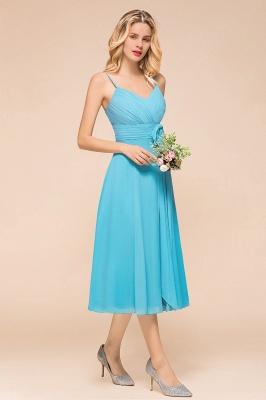 Blaue Brautjungfernkleider Kurz | Günstige Hochzeitspartykleider Online_7