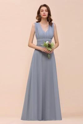 Günstige Brautjungfernkleider Grau | Brautjungfenrkleid Lang Chiffon_6