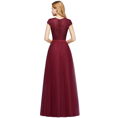 Designer evening dresses wine red | Prom dresses with lace_12