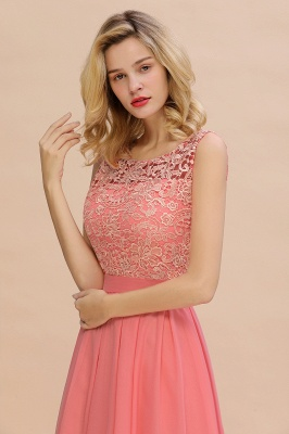 Schlichte Abendkleider Günstig   Coral Brautjungfernkleider Lang_8
