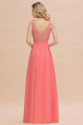 Schlichte Abendkleider Günstig   Coral Brautjungfernkleider Lang_3