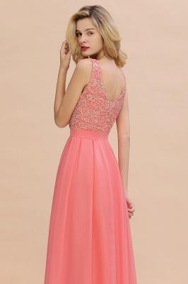 Schlichte Abendkleider Günstig   Coral Brautjungfernkleider Lang_9