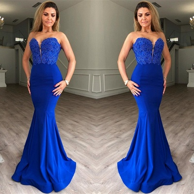 Sexy evening dress blue | Long Prom Dresses Cheap Online_2