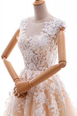 Champagne Brautkleider A Linie | Hochzeitskleider Spitze Online_5