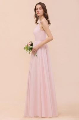 Schicke Brautjungfernkleider Lang Rosa   Chiffon Kleider Günstig_9