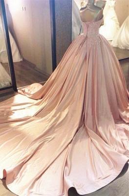 Designer Rosa Quinceanera Kleider 2020 mit Spitze Günstige Abiballkleider Online_2