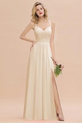 Coral Brautjungfernkleider Lang Günstig   Hochzeitsgäste Kleider_14