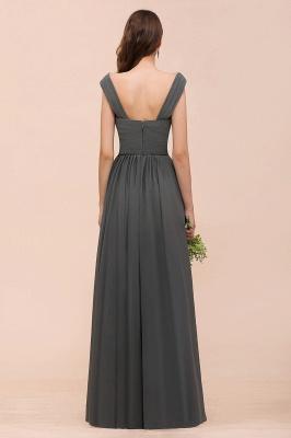 Brautjungfernkleider Lang Dunkel Grau | Kleider Für Bautjungfern_3