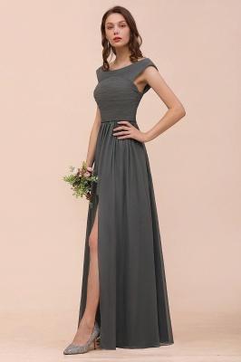 Brautjungfernkleider Lang Dunkel Grau | Kleider Für Bautjungfern_9
