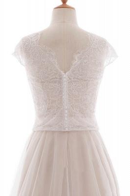 Elegante Brautkleider A linie | Hochzeitskleider Spitze Bodenlang_7