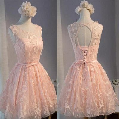Cheap Short Cocktail Dresses Online Lace A Line Evening Wear_1
