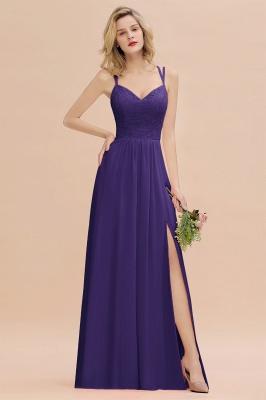 Coral Brautjungfernkleider Lang Günstig   Hochzeitsgäste Kleider_19
