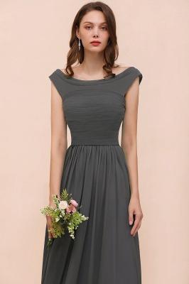 Brautjungfernkleider Lang Dunkel Grau | Kleider Für Bautjungfern_8