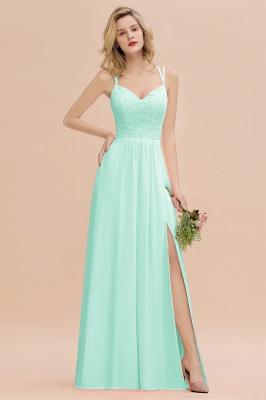 Coral Brautjungfernkleider Lang Günstig   Hochzeitsgäste Kleider_36