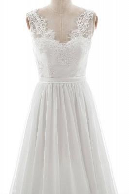 Elegante Brautkleider V Ausschnitt | Hochzeitskleid mit Spitze_4