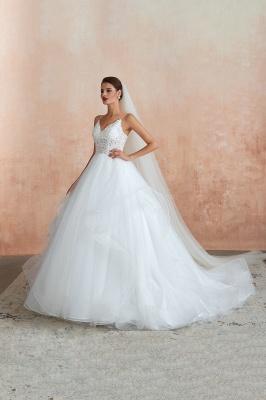 Brautkleid A Linie Spitze Rückenfrei | Schöne Hochzeitskleider_3