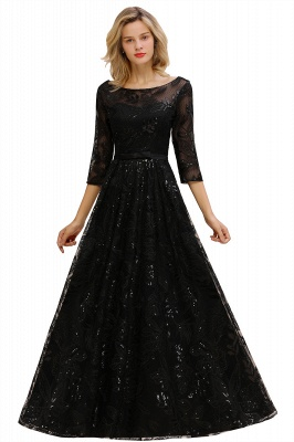Evening dress long black | Prom dresses with sleeves_11