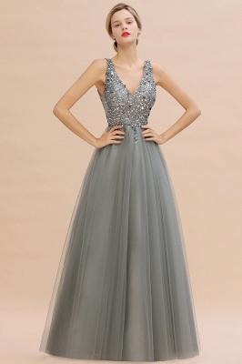 Evening dresses long V neckline | Evening wear online_11