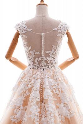 Champagne Brautkleider A Linie | Hochzeitskleider Spitze Online_6