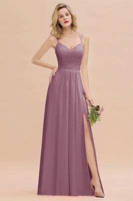 Coral Brautjungfernkleider Lang Günstig   Hochzeitsgäste Kleider_43