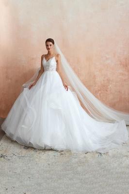Brautkleid A Linie Spitze Rückenfrei | Schöne Hochzeitskleider_2