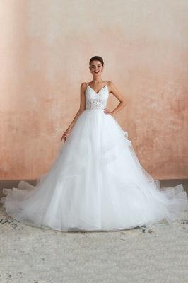 Brautkleid A Linie Spitze Rückenfrei | Schöne Hochzeitskleider_4