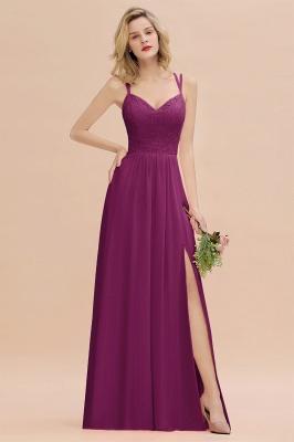 Coral Brautjungfernkleider Lang Günstig   Hochzeitsgäste Kleider_42