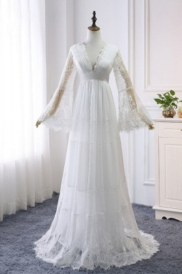 Gorgeous wedding dresses with sleeves | Simple wedding dresses online_2