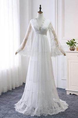 Wunderschöne Brautkleider mit Ärmel | Schlichte Hochzeitskleider Online_2