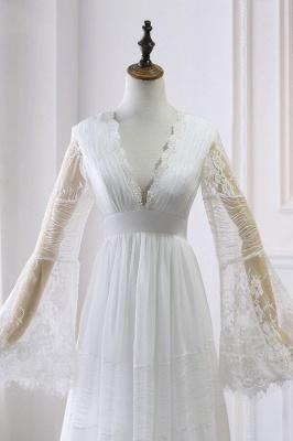 Wunderschöne Brautkleider mit Ärmel | Schlichte Hochzeitskleider Online_4