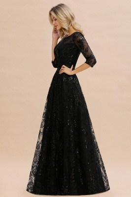 Evening dress long black | Prom dresses with sleeves_6