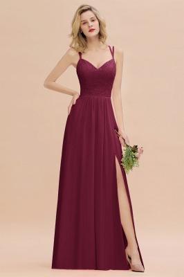 Coral Brautjungfernkleider Lang Günstig   Hochzeitsgäste Kleider_44