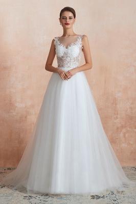 Schlichte Hochzeitskleider A Linie | Elegante Brautkleider Online Kaufen_1