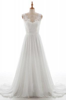 Elegante Brautkleider V Ausschnitt | Hochzeitskleid mit Spitze_1