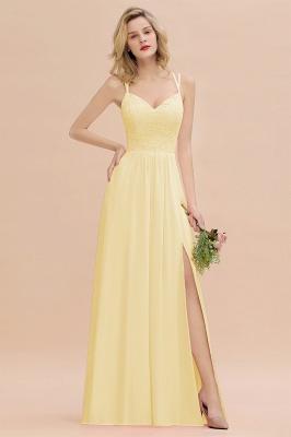 Coral Brautjungfernkleider Lang Günstig   Hochzeitsgäste Kleider_18
