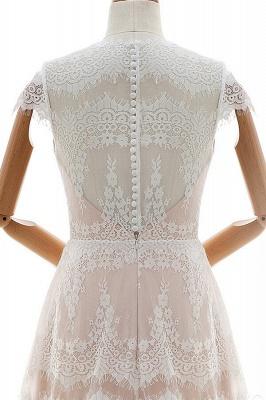 Sheath dresses wedding dresses lace | Floor length wedding dresses_6